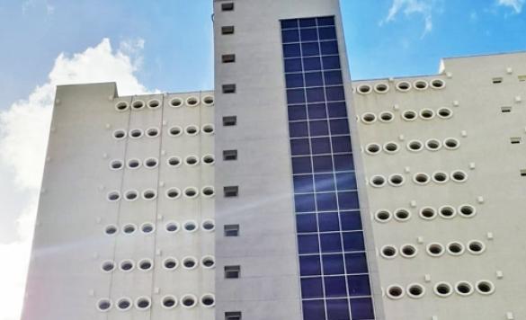 limpia vidrios de edificios