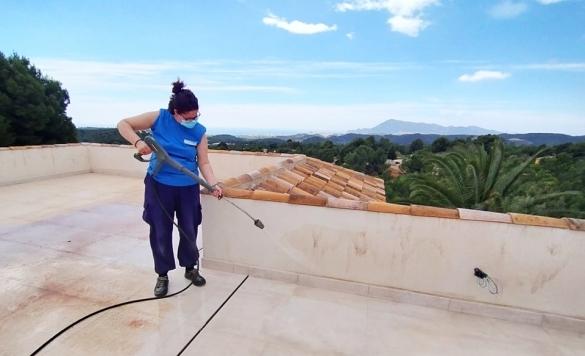 limpiar terraza exterior altea hills