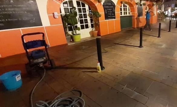 limpieza de terrazas en calpe