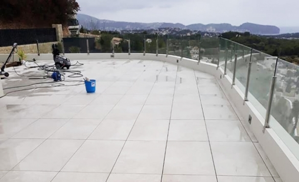 limpieza de terrazas obra altea 2