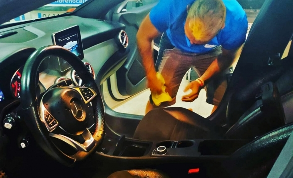 limpieza de coches interior en calpe