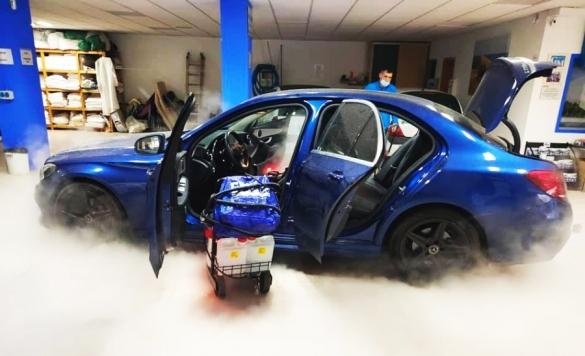 lavado a vapor de coches