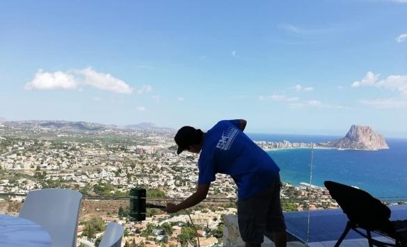 limpieza cristales pertigua agua pura 13