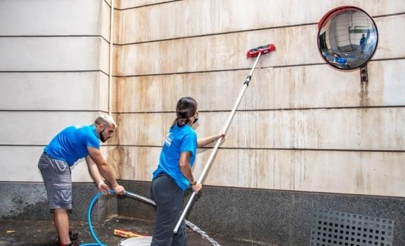 limpiar piedra fachada