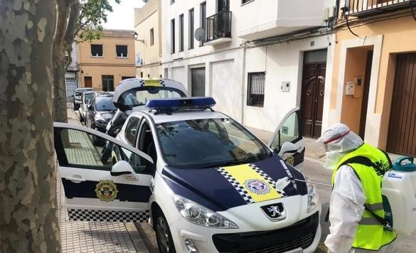desinfeccion coche policia1