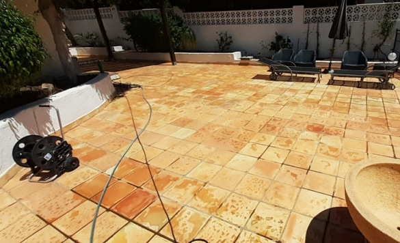 limpieza terraza chalet moraira 7