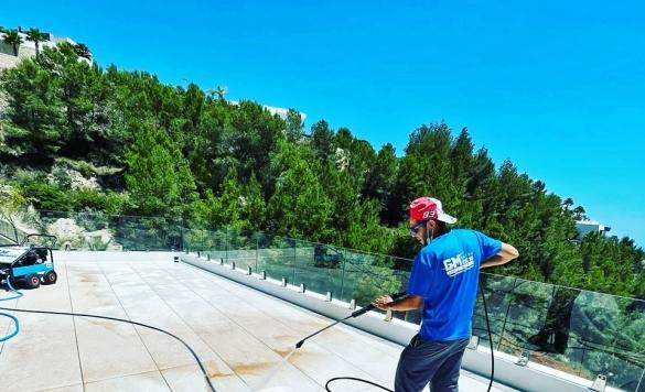 limpiar terraza con maquina a presion en altea