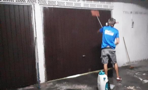 limpieza garajes exterior