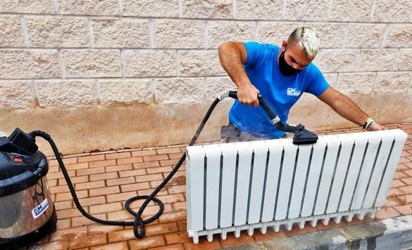 limpieza a vapor de radiadores