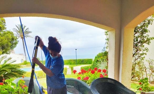 limpiar patio terraza calpe