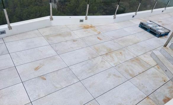 limpieza terrazas con oxidos antes 2