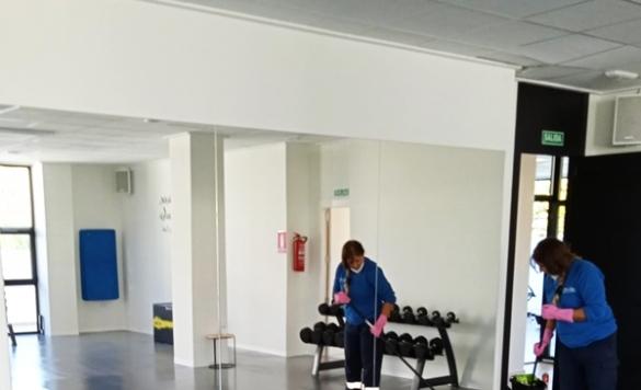 limpieza de gimnasio a fondo