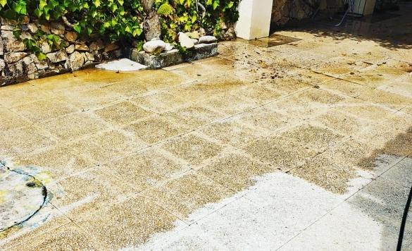 limpieza de suelos de terraza