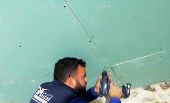 colocar el pladur en el techo