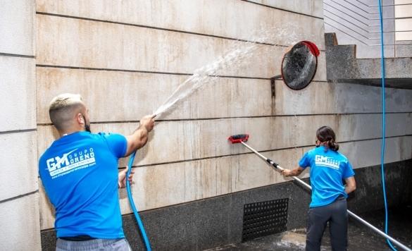 limpiar piedra fachada calpe