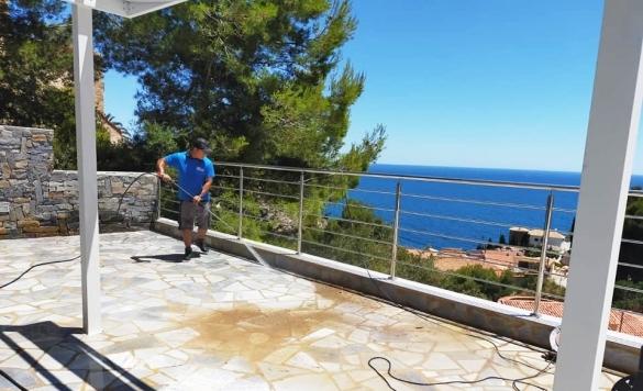limpieza de terraza en marina alta