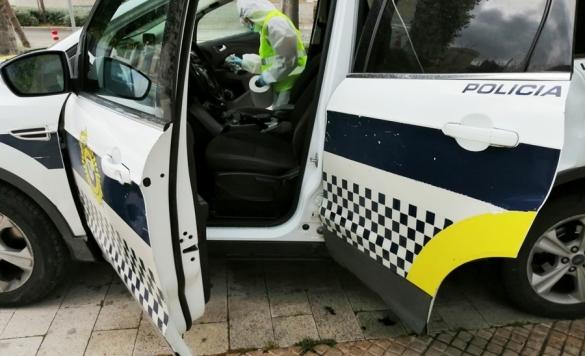 desinfeccion coche policia 5