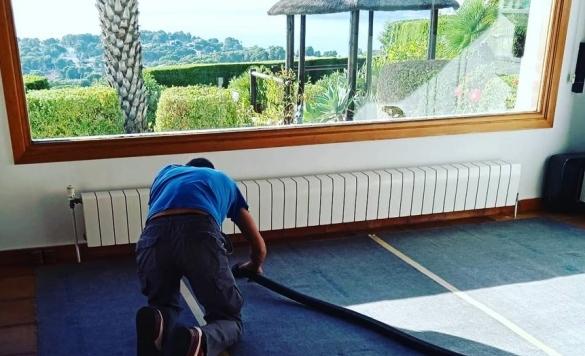 limpiar alfombras con vaporeta