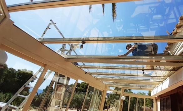 limpieza techo de cristal alicante