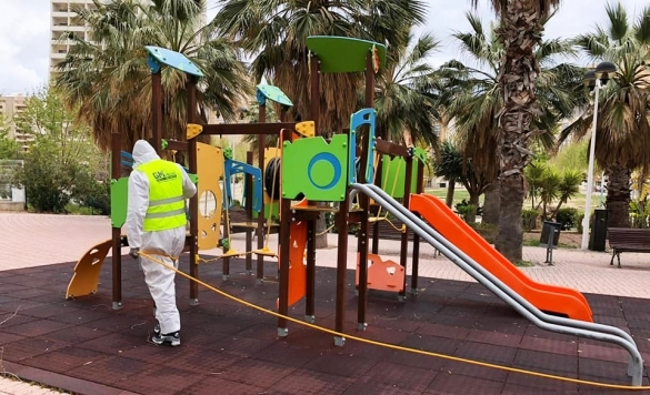 desinfeccion coronavirus parque publico3