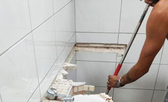 cambio de lavabo bano