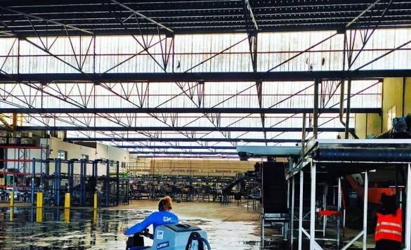 limpieza con maquinarias industriales en altea