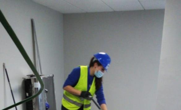 limpieza fin de obra suelo en denia