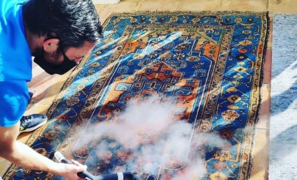 limpiar alfombra con vapor