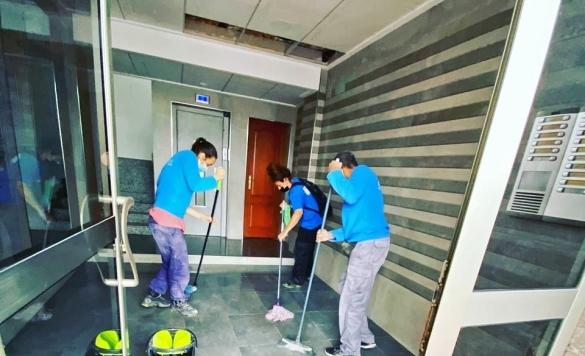 limpieza en comunidades