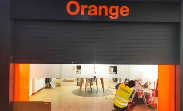 limpieza cristales orange