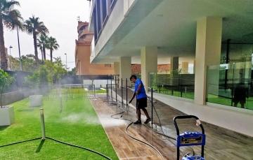 limpieza de patios comunidades calpe
